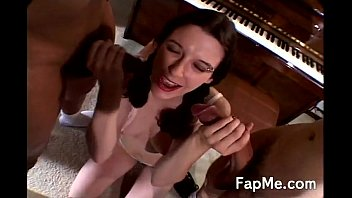 Girl gets creampied all over her face