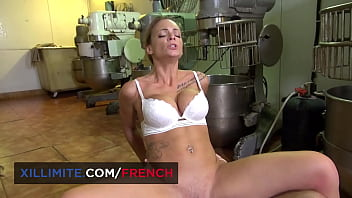 Big boobs baker fucks with her customers