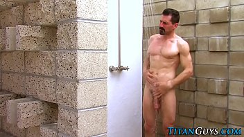 Well hung hunk cum sprays
