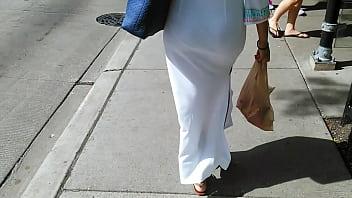 Candid white dress VPL