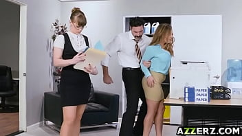 Busty secretary Natasha bangs with horny office mate
