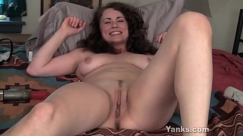 Busty Brunette Alex Fucks A Big Toy