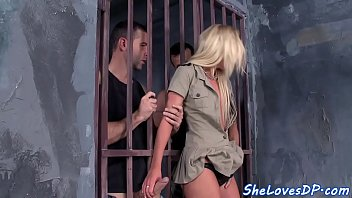 Adult strip search in prison Eurobabe assfucked during prison threesome
