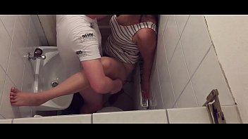 Naled and sex in public Tinder couple cant wait until they are home and so they are fucking in the public toilet of a restaurant - caught on hidden camera