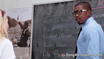 Black History Teacher Fucks Hot New Student Odette Delacroix
