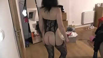 I tried on my daughter's sexy lingerie