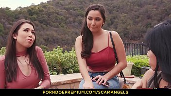 SCAM ANGELS - Blackmail fucking with American babes Karlee Grey, Ember Snow &amp_ Melissa Moore