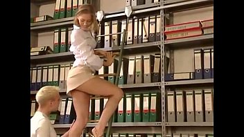 Sash and vintage gold Blonde gets fucked hard in the library