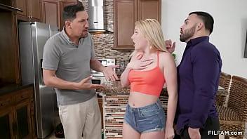 Nasty blonde caught sucking dick by stepdad - Derrick Ferrari, Juan Largo, Dixie Lynn