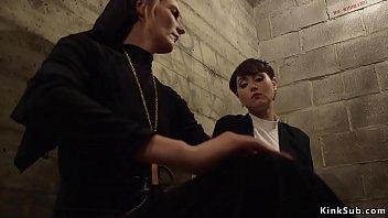 Fornication bondage prayer Lesbian nun whipping sinner sister