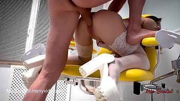 SEXY DOCTOR FUCKED A PATIENT ON A GYNECOLOGICAL CHAIR. MIA BANDINI