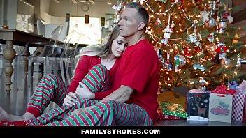 FamilyStrokes - Fucking My Stepdad On Christmas Morning