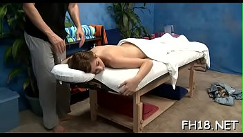 Hawt and horny eighteen year old slut gets a hard fuck from her massage therapist