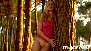 Art female nude photography German busty blonde teen corinna at sunset