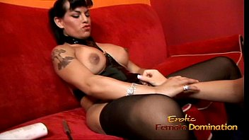 Naughty domina Foxxy receives a handjob from her sexy girlfriend