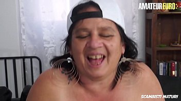 AMATEUR EURO - BBW Granny Jessica Grandi Gets Pounded Deep By Young Stallion