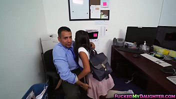 Latina cutie Victoria Valencia hot office fuck