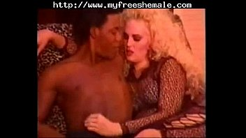 Vintage TS Dawn Avalon getting fucked by a curious black dude