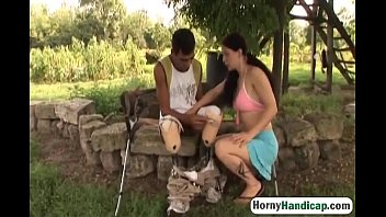 Handicapped Man Gets Lucky Out In The Wild-2