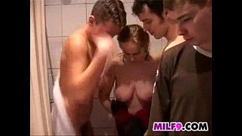 Mother Banged By Young Guys After A Shower
