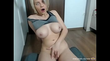 My ugly blonde step sister plays around with her new toy