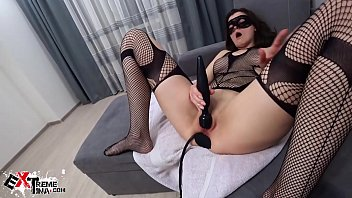 3000 bikinis Babe fisting all holes and anal expander with vibrator