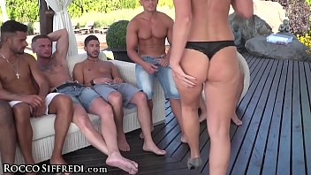 Angie facial big tit - Roccos hard academy blue angy vs. all the cocks and cum