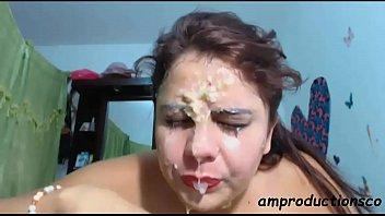 Sloppy deepthroat blowjob by Latina 2