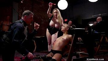 Slave gets waxed and bdsm banged