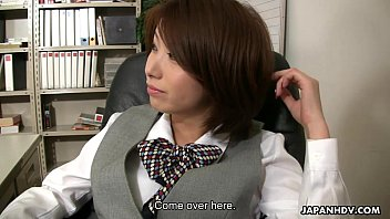 Asian office lady Tsubaki getting fucked by her boss