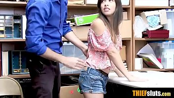 Shopper penetration Hot latina teen shoplifter busted and gets fucked hard