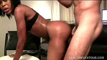 Hardcore interracial amateur porn - Young round ass african takes it hard on all fours