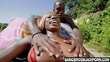 Hot ebony babe gets fucked by a huge black cock - black porn thumbnail