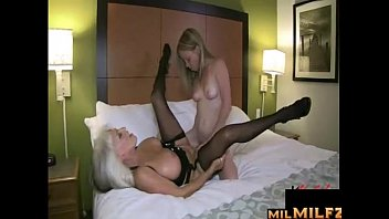Alyssa on dildo bike - Lesbian mom and young dauaghter fuck each other with double strapless dildo
