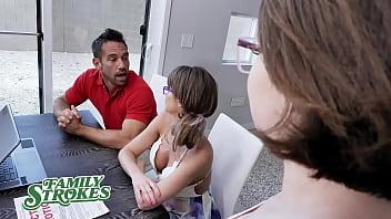 Daughter Teaches Mom And Dad To Make Money- Anna Blaze & Emily Addison
