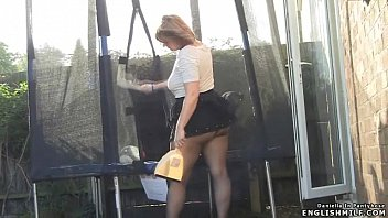 White skirted swim bottoms Pantyhose upskirt british big butt wife in mini skirt