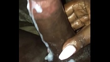 Shemale nails - Sexy blk ts busts huge load