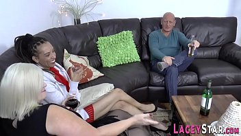 Ebony milf and granny in threesome thumbnail