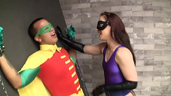 Weird cosplay fucking video where Robin gets tied up and fucked by some character I've never actually heard of but whatever its pretty hot femdom stuff just enjoy it