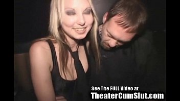 Blowjob in a theater Cum slut zoe gets jizz coated creampied in public porn theater