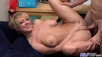Non commercial erotica - Milf trip - super horny blonde big-boobed milf cant get enough cock - part 1