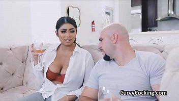 Curvy Huge Titty Hottie Bounces On Big Dick