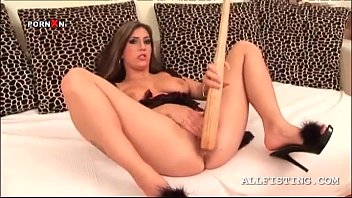 Stealth comp adult bat Big titted slut drilling wet cunt with baseball bat