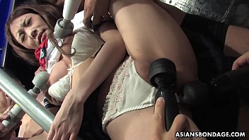 Submissive gal Aoi Yuuki got her tits and pussy toyed