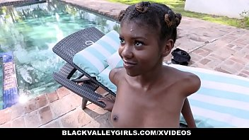 BlackValleyGirls - Hot Ebony Teen Fucks Swim Coach Thumb