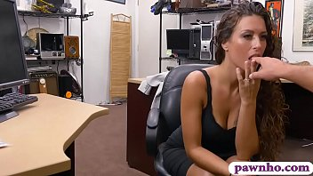 Sweet babe pawns her pussy and pounded by pawn keeper