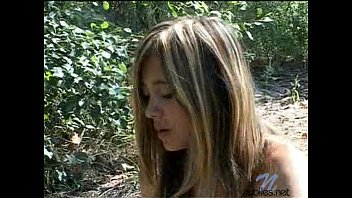 Nude In Wooded Area Singing To Herself