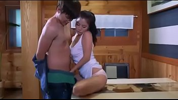 passionate love of korean couple - fuck on the table