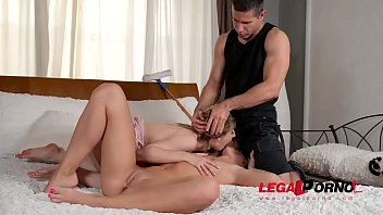 Horny window cleaner fucks hot lesbian Vanda Lust & Stella Cox in the ass GP552