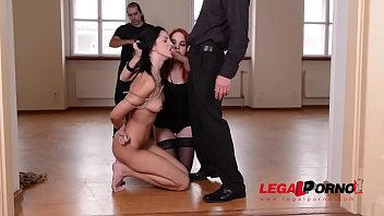 Suspended subby Meg Magic dominated by Redhead Amarna Miller & her Masters GP799